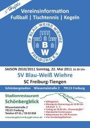 Tischtennis | Kegeln - SV Blau-Weiss-Wiehre