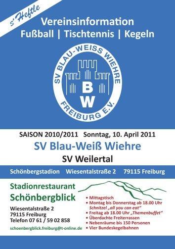 10.04.2011 SV Blau-Weiss Wiehre gegen SV