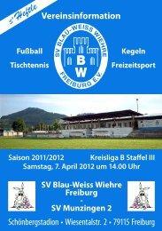 07.04.2012 SV Blau-Weiss Wiehre gegen SV