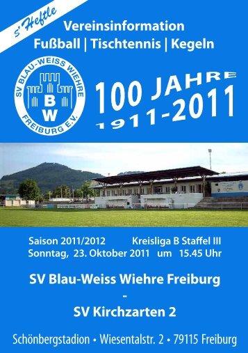 22.10.2011 SV Blau-Weiss Wiehre gegen SV