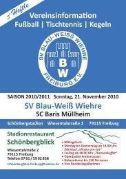 21.11.2010 SV Blau-Weiss Wiehre gegen SC