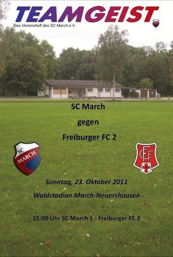 SC March SC March gegen gegen Freiburger FC 2 Freiburger FC 2