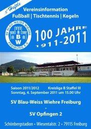 04.09.2011 SV Blau-Weiss Wiehre gegen SV