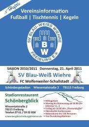 21.04.2011 SV Blau-Weiss Wiehre gegen FC