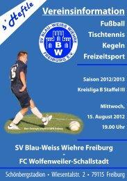 15.08.2012 SV Blau-Weiss Wiehre gegen FC