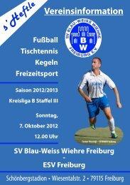 7.10.2012 SV Blau-Weiss Wiehre gegen ESV