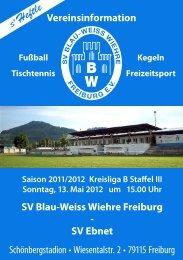 13.05.2012 SV Blau-Weiss Wiehre gegen SV