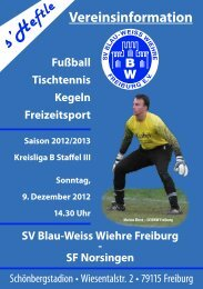 9.12.2012 SV Blau-Weiss Wiehre gegen SF