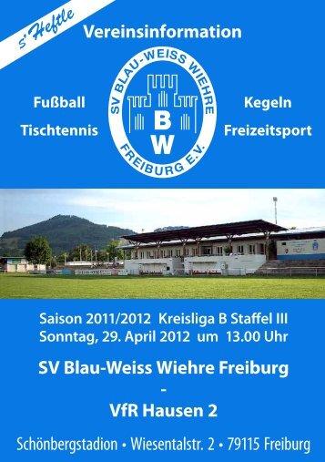 29.04.2012 SV Blau-Weiss Wiehre gegen VfR