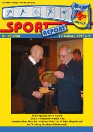 Vorbereitungsspiele Saison 2008/2009 - TV Asberg 1897 eV