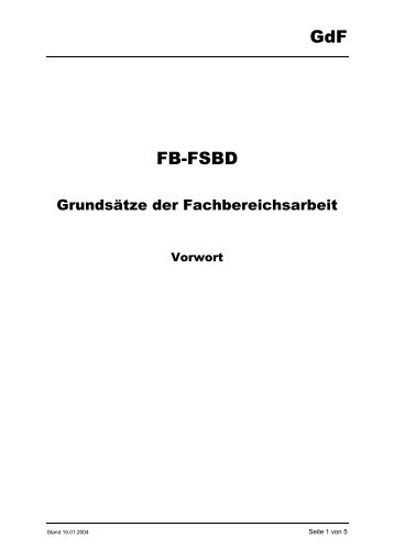 GdF FB-FSBD - GdF Gewerkschaft der Flugsicherung eV