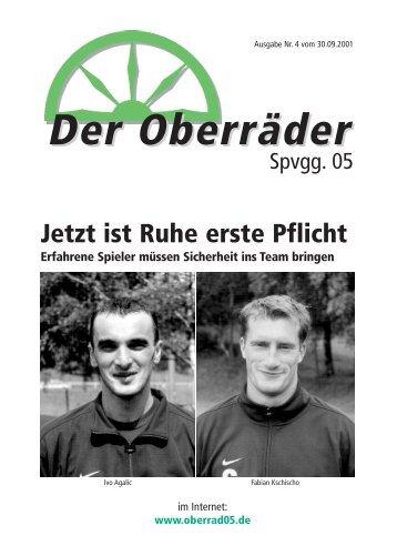 Stadionzeitung 04/2001 - Spvgg. 05 Frankfurt-Oberrad
