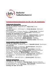 Schiedsrichteransetzungen am 28./29./30. September
