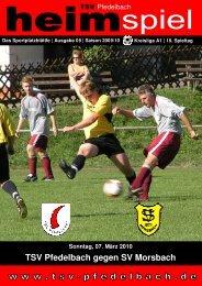 8. Heft gegen SV Morsbach 07. März 2010 - TSV Pfedelbach