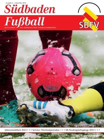 Ausgabe 6 | Dezember 2012 - SBFV