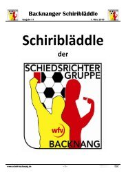 Schiri- Bläddle vom 01.03.2010 - der Schiedsrichtergruppe Backnang
