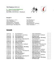 Spielplan A-Jugend - TSV Pfedelbach