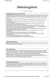 Seite 1 von 5 Mitteilungsblatt 19.11.2004 http://weichering ...