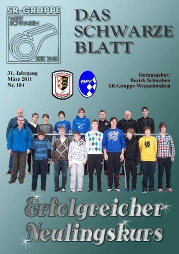 Das schwarze Blatt Nr.104 (PDF 6,8 - Schiedsrichtergruppe ...
