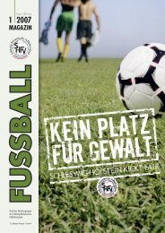 Ausgabe I / 2007 - Schleswig-Holsteinischer Fussballverband eV