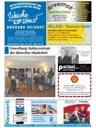 AUSGABE 05/2007 Einweihung: Kulturzentrum der ... - ETSV Weiche