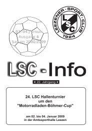 LSC-Info 2008-2009 Ausgabe 6 - Leezener SC