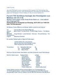 Newsletter 19.07.12 - I Mannschaft