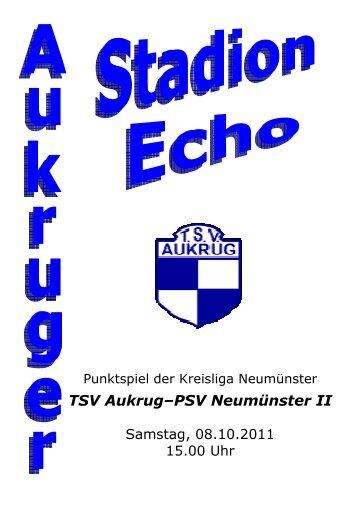 Fussball-Zeitung - TSV Aukrug