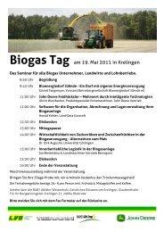 Biogas Tag am 19. Mai 2011 in Krelingen - Land-Data Eurosoft