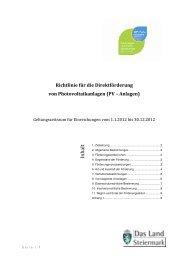 Richtlinie für die Förderung von ... - LandesEnergieVerein Steiermark