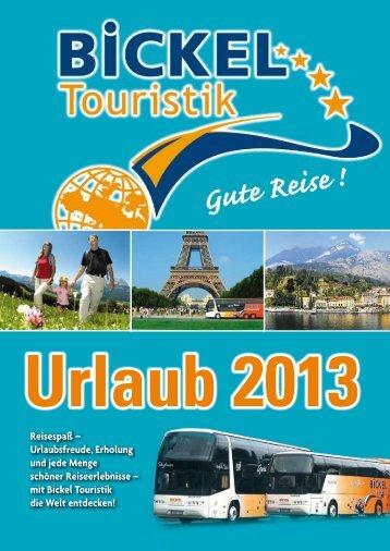 Gute Reise ! - Bickel Touristik GmbH