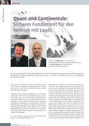 Quant und Continentale - Quant Consulting Süd-West GmbH