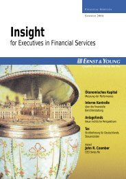Insight Financial Services – Sommer 2004 - Home - Ernst & Young ...