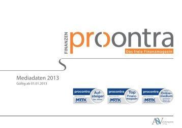 Mediadaten 2013 - procontra online