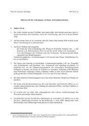 Prof. Dr. Karsten Altenhain WS 2012/13 Hinweise für die Anfertigung ...