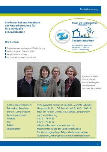 FFZ-Kinderbetreuung1-2013 - und Familienzentrum Bensheim e.V.