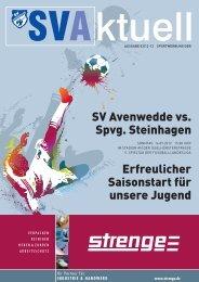 SV Avenwedde vs. Spvg. Steinhagen Erfreulicher Saisonstart für ...