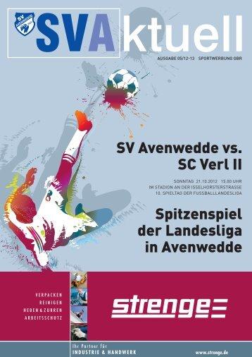 SV Avenwedde vs. SC Verl II Spitzenspiel der Landesliga in ...