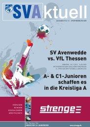 SV Avenwedde vs. VfL Thessen A- & C1-Junioren schaffen es in die ...