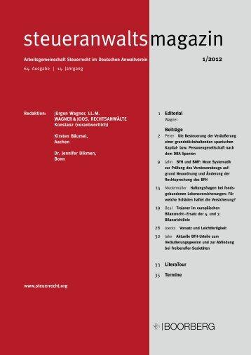 steueranwalts magazin - Arbeitsgemeinschaft Steuerrecht im ...