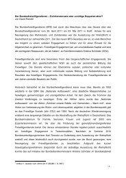 Der Bundesfreiwilligendienst - Gerold Reichenbach