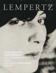 PHOTOGRAPHIE PHOTOGRAPHY 2./4. DEZEMBER ... - Lempertz