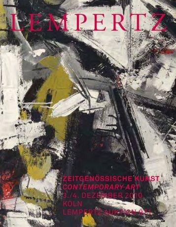 ZEITGENÖSSISCHE KUNST CONTEMPORARY ART 3 ... - Lempertz