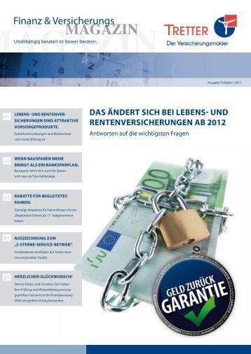 MAGAZIN - Tretter Versicherungsmakler GmbH