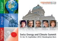 Swiss Energy and Climate Summit - Cleantech Switzerland
