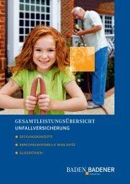 Deckungskonzept Baden-Badener Unfall - Versicherungsmakler Ernst