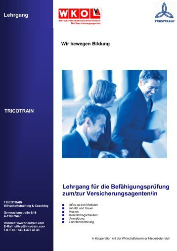 Lehrgang - TRICOTRAIN Wirtschaftstraining & Coaching