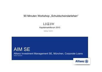 AIM SE - LBBW-Kapitalmarktforum