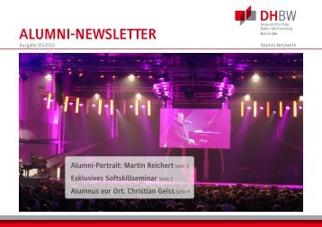 Alumni-Newsletter 05/2010 - DHBW Karlsruhe