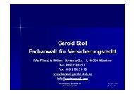 Gerold Stoll Fachanwalt für Versicherungsrecht - ISV-Treffpunkt